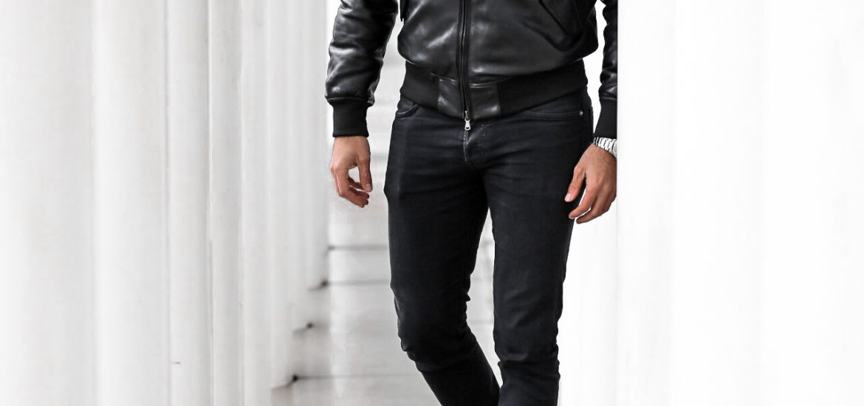 FASHION - Allblack Look mit Lederjacke blauer USA blogger Deutschland fashion blogger Männer mode Frauen blog outfit Bernd Hower berndhower